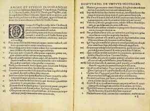 Luther's ninety-five theses that were nailed to the door of Wittenberg castle church in 1517.