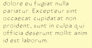 A small example of the font I created using iFont.