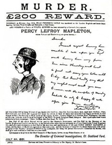 """1881, the first """"wanted"""" poster to include an image of the accused."""