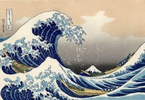 The Great Wave Off Kanagawa by Hokusai is an original Japanese woodblock print.