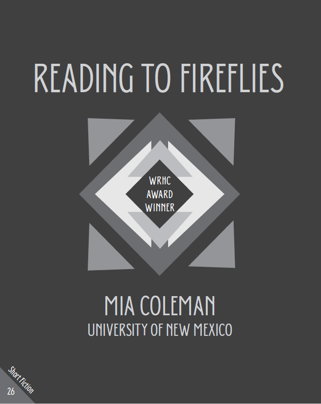 Contributor Profile: WRHC Short Fiction Award Winner Mia Coleman